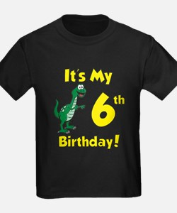 6th Dinosaur Birthday T-Shirt