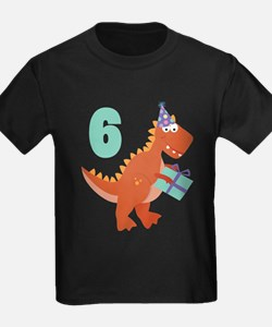 6th Birthday Dinosaur T-Shirt