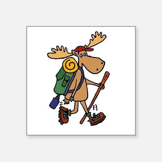 Moose Hiking Sticker