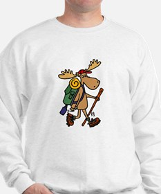 Moose Hiking Sweatshirt
