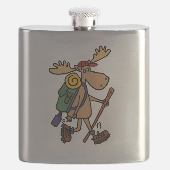 Moose Hiking Flask