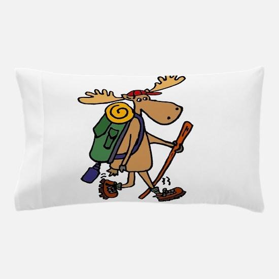 Moose Hiking Pillow Case