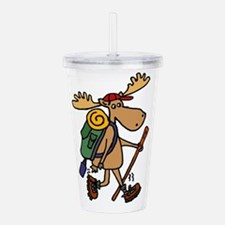 Moose Hiking Acrylic Double-wall Tumbler