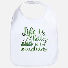 Life's Better Mountains Bib