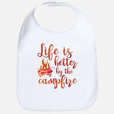 Life's Better Campfire Bib
