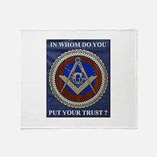 A Mason's Trust Throw Blanket