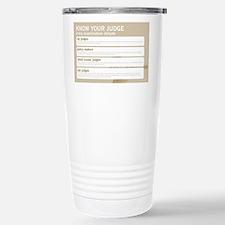 Know your judge Travel Mug