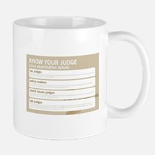 Know your judge Mugs