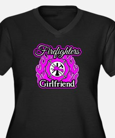 Firefighters Women's Plus Size V-Neck Dark T-Shirt