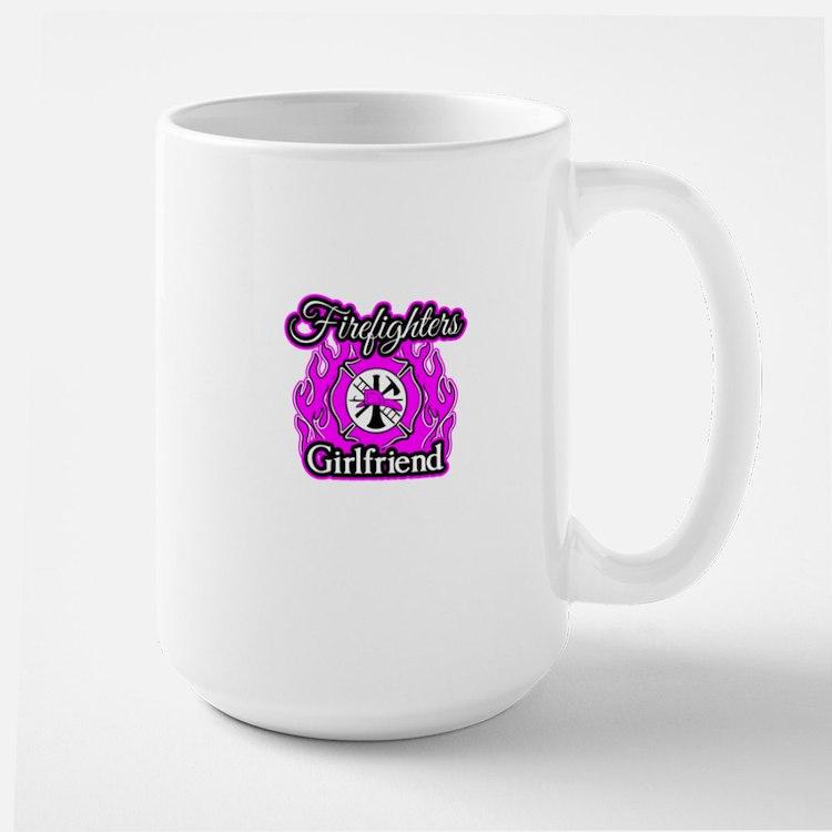 Firefighters Girlfriend Large Mug