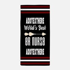 Emergency Room Nurse Gift Personalized Beach Towel