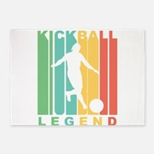 Retro Kickball Legend 5'x7'Area Rug