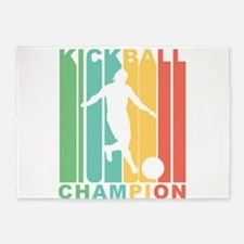 Retro Kickball Champion 5'x7'Area Rug