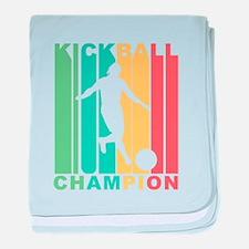 Retro Kickball Champion baby blanket