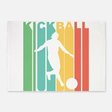 Retro Kickball 5'x7'Area Rug