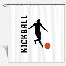 Kickball Shower Curtain