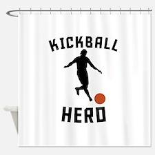 Kickball Hero Shower Curtain