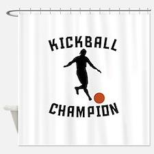 Kickball Champion Shower Curtain