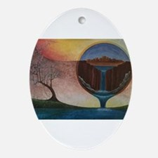 Creation Oval Ornament