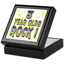3 Year Olds Rock ! Tile Box