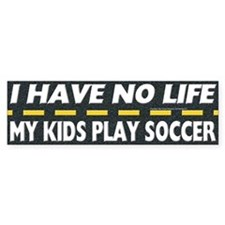 My Kids Play Soccer Bumper Sticker