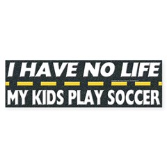 My Kids Play Soccer Bumper Bumper Sticker