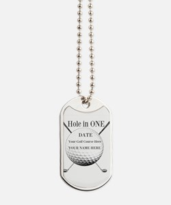Hole In One Dog Tags