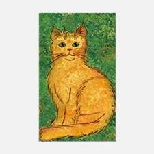 Golden Kitty Rectangle Decal