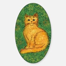 Golden Kitty Oval Decal