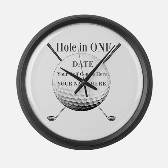 Hole In One Large Wall Clock