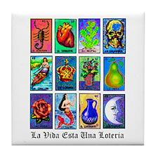 Loteria Celeste Tile Coaster