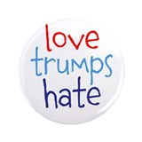 Love trumps hate pin Single
