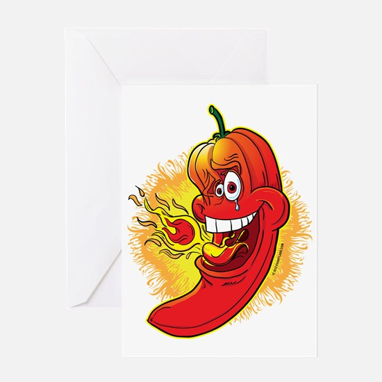 Red Hot Chili Pepper Greeting Cards