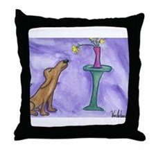 """""""Stop and Smell the Roses"""" Throw Pillow"""