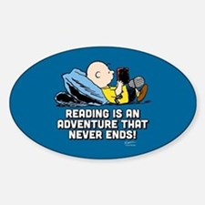 Charlie Brown - Reading is an Adven Decal