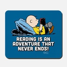 Charlie Brown - Reading is an Adventure Mousepad