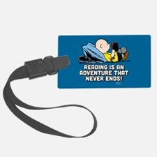 Charlie Brown - Reading is an Ad Luggage Tag