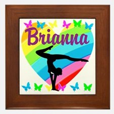 PERSONALIZE GYMNAST Framed Tile
