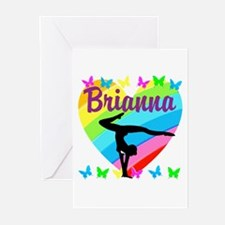 PERSONALIZE GYMNAST Greeting Cards (Pk of 10)