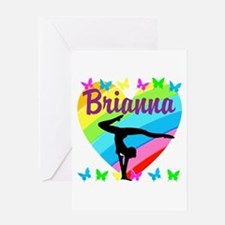 PERSONALIZE GYMNAST Greeting Card