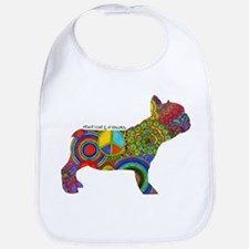 Unique Peace love pets Bib