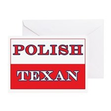 Polish Texan Poland Flag Greeting Card