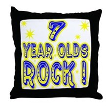 7 Year Olds Rock ! Throw Pillow