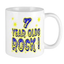 7 Year Olds Rock ! Small Mug