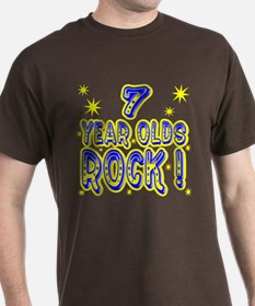 7 Year Olds Rock ! T-Shirt