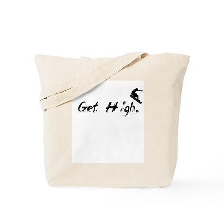 Get High Snowboarding Tote Bag