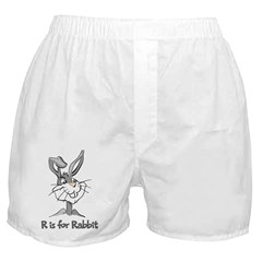 R is for Rabbit Boxer Shorts