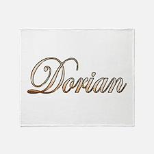 Gold Dorian Throw Blanket