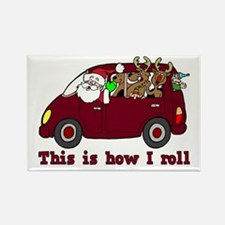 This is How I Roll Santa Rectangle Magnet