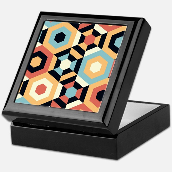 Retro Pattern Keepsake Box